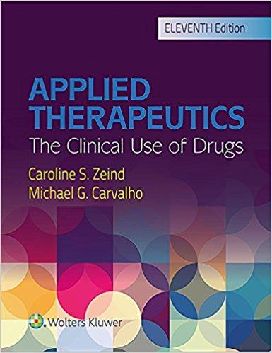 Applied Therapeutics ۱۱th Edition ۲۰۱۸
